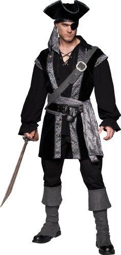 InCharacter Costumes High Seas Rogue, Black, X-Large