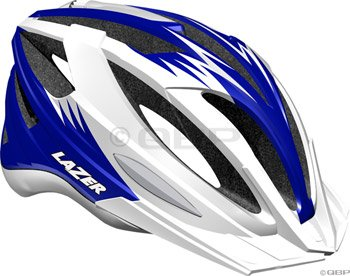 Buy Low Price Lazer Clash Helmet with Visor: White/Blue (BLU2005666087)