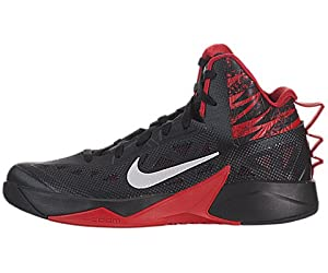 Nike - Zapatillas para hombre black metallic silver university red, color, talla 44