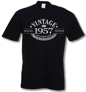 1957 Vintage Year - 58 Geburtstagsgeschenk / Gegenwart T-Shirt Schwarz 2XL