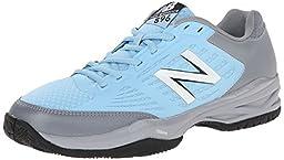 New Balance Men\'s MC896 Lightweight Tennis Shoe, Light Grey/Light Blue, 9.5 2E US