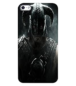 ColourCraft Warrior Design Back Case Cover for APPLE IPHONE 4S