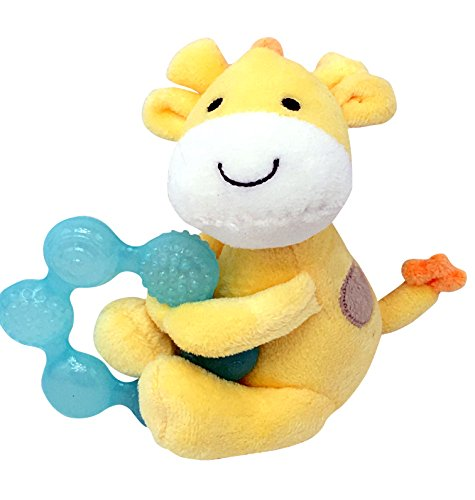 Child of Mine Soft Giraffe Plush with Teething Ring and Rattle - 1