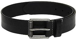 Fume Designs Men's Leather Belt - FB BL 91G_Black_30