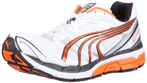 Puma Complete Vectana 3 185776, Herren Sportschuhe - Running, Weiss (white-vermillion orange 01), EU 43 (UK 9) (US 10)