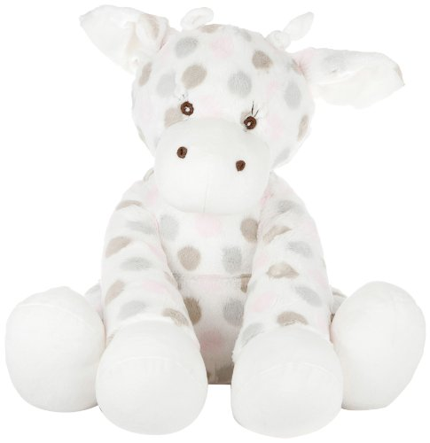 Little GiraffeTM Big G Plush Giraffe in LuxeTM DotTM fabric for boys and girls