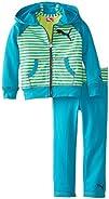 PUMA Little Girls Stripe Raglan Set Toddler