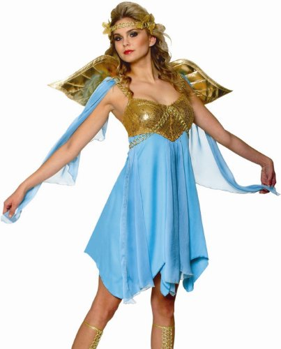 Franco Blue Sexy Greek Goddess Athena Roman Toga Costume