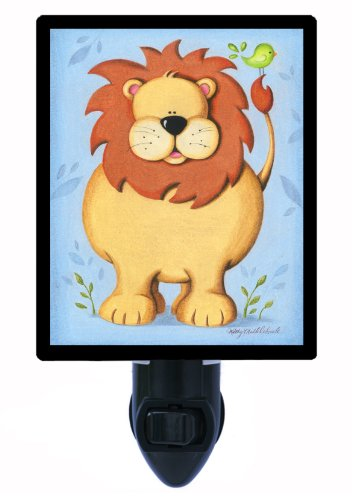 Childrens Night Light - Kids Lion - Zoo Animal Led Night Light front-1042690