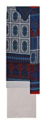 Gulmohar Women's Cotton Unstitched Dress Material (Blue)