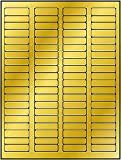 """1,600 Label Outfitters® 1-3/4"""" x 1/2"""" Gold Metallic Foil Laser Printer Labels, 20 Sheets (Same size as Avery 5167, 5267)"""