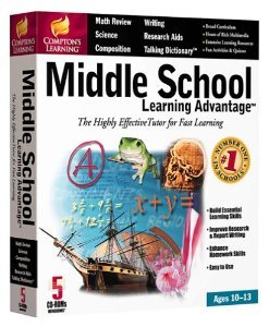 Compton's Learning Middle School Learning Advantage: The Highly Effective Tutor for Fast Learning, Ages 10-13 (5 CD-ROMs for Windows 95/98)