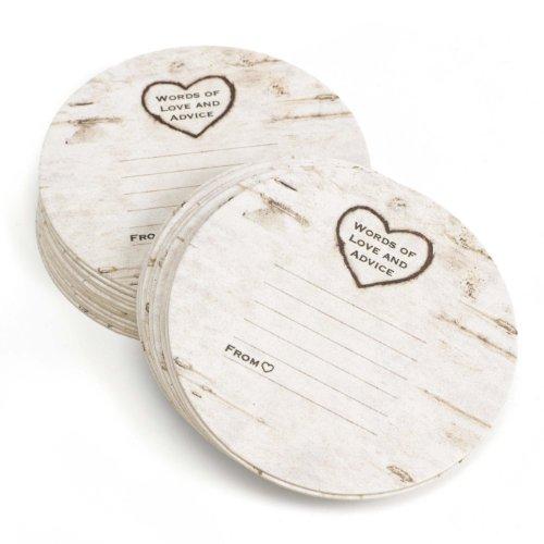Hortense B Hewitt Wood Grain Design Words of Advice Coasters, Set of 25