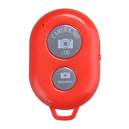 Okeyn Bluetooth Wireless Shutter Remote Control for IOS or Android Smartphone Tablet iPhone 6 5 5S 5C 4S 4S, iPad Air/3/2,ipad Mini,ipad with Retina Display,iPod Touch 4th Generation or Newer,Samsung Galaxy S3 S4 S5 Note 1 2 3 4 Galaxay Tab 2 Moto X/ Nexus 4,5,7+ Sony Xperia S (Red)