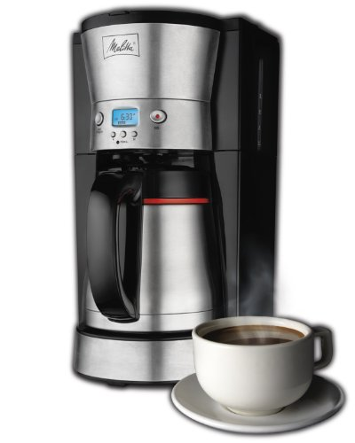 Melitta 10-Cup Coffee Maker with Vacuum Stainless Thermal Carafe (46894A) (Coffee Maker Vacuum compare prices)