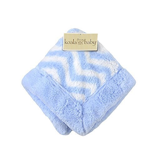 Koala Baby Security Blanket - Blue Chevron - 1