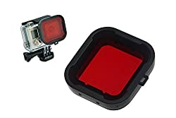 Hapurs GoPro Water Sport Floating Dive Red Filter For Gopro Hero 3+ 4 Standard Housing Color Correction Accessories with ABS Plastic frame, Professional Lens Filter Accessory Kit for water sports, underwater photography