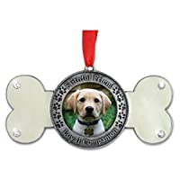 Loving Memory Dog Memorial Christmas Ornament Dog Bone Shaped Faithful Friend Loyal Companion