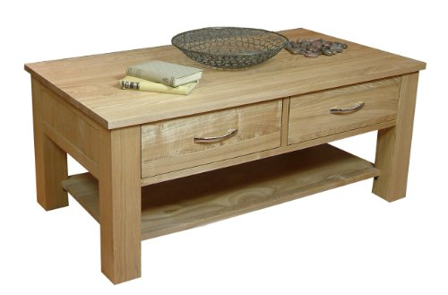 Four 4 Drawer Coffee Table Mobel Solid Premium Oak New