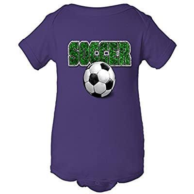 Soccer Grass Ball Graphic One Piece Baby Bodysuit