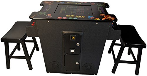 Cocktail Arcade Machine 60 Games Includes 2 Stools 3 Year Warranty - Commercial Grade