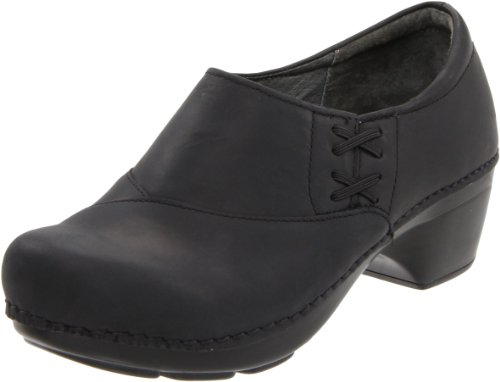 Dansko Women's Stacie Clog,Black Oiled,41 EU/10.5-11 M US