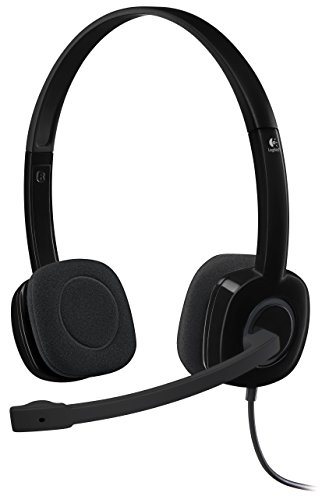 Logitech 3.5 mm AnalogStereo Headset H151 with Boom Microphone (981-000587)