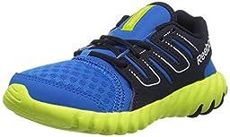 Reebok Twistform Running Shoe (Little Kid/Big Kid), Cycle Blue/Faux Indigo/Semi Solar Yellow, 12 M US Little Kid