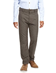 Autograph Pure Cotton Checked Trousers