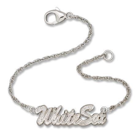 Chicago White Sox MLB Sterling Silver Script Bracelet