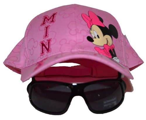 Authentic Disney Minnie Mouse Girls Baseball Hat Cap W/sunglasses on Visor