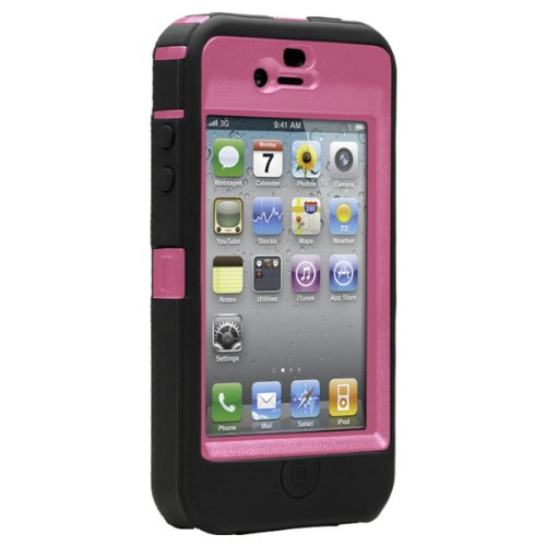 OtterBox Defender Case iPhone 4 (Pink and Black, 