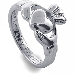 Ladies Silver Claddagh Ring SL92. Made in Ireland.