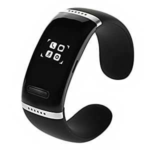 Bwatch V3.0 OLED Touch Screen Smart Bracelet Bluetooth Bracelet for Google Android Mobile Phone, Iphone, Microsoft Windows Phone System, Nokia Symbian-Black