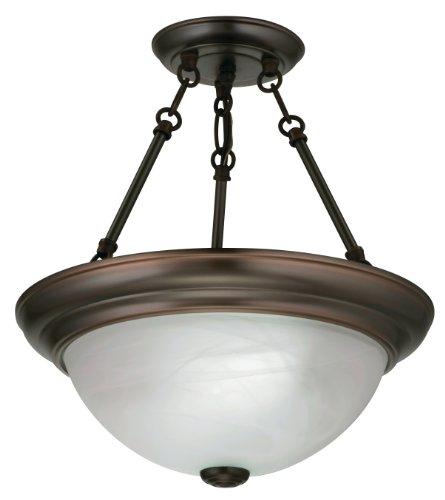 Lithonia 11780 BZ M4 Light Concepts 2-Light Sheffield Flush/Semi-Flush Ceiling Lighting Fixture, Black Bronze