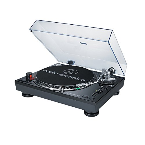 Audio-Technica Direct Drive Professional Black DJ Turntable with USB Output AT-LP120BK-USB (Certified Refurbished) (Professional Dj Turntables compare prices)