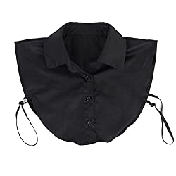 Imported Womens Fake Half Shirt Blouse Detachable Collar Black