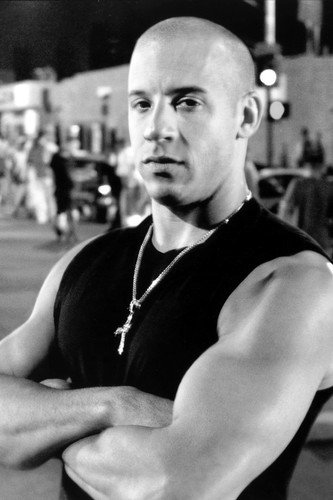 Vin Diesel Hunky B&W 24X36 Poster Fast and The Furious