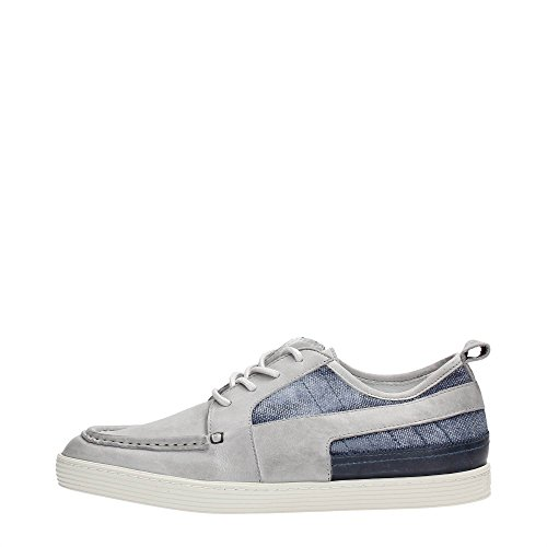 Bikkembergs BKE107806 Mocassino Uomo Pelle Grey/Denim Grey/Denim 46