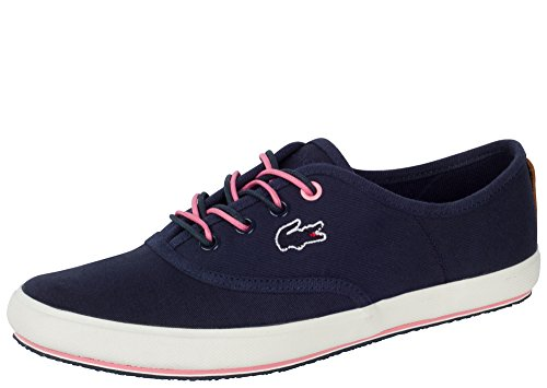 Lacoste Women's Amaud 116 1 Sneaker,Navy Canvas,US 8.5 M