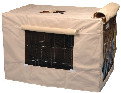 Precision Pet Indoor Outdoor Crate Cover For Size 6000 Crates Tan front-446342