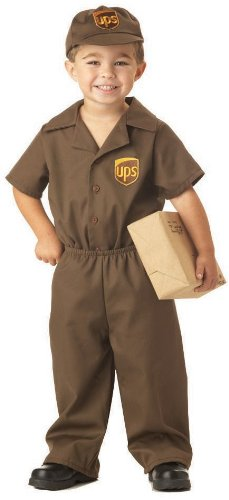 [Toddler4-6 - Miniature UPS Driver Costume (Package not included)] (Ups Package Costume)
