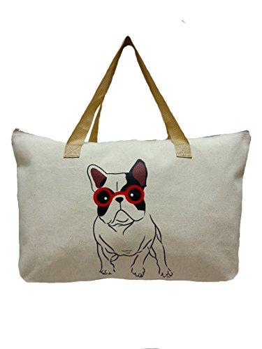 LinNaDa Eco Bag, Eco Friendly Tote Bag Natural Color 21.5