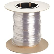 "Insultab 3003750C1A5 HS-105 3/8"", 50' Clear Polyvinylchloride Heat Shrink Tubing"