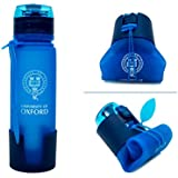 University Of Oxford Silicon Foldable Water Bottle 500 Ml Blue