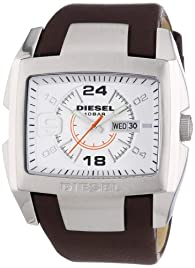 Diesel Men's DZ1273 Stainless Steel and Brown Leather Watch