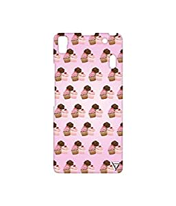 Vogueshell Cupcake Pattern Printed Symmetry PRO Series Hard Back Case for Lenovo A7000
