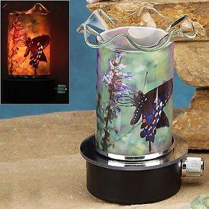 Plug-in Oil Warmer Night Light - Blue Butterfly
