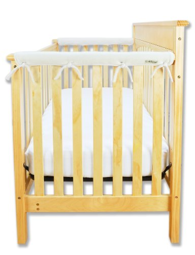 Trend-Lab-Fleece-CribWrap-Rail-Covers-for-Crib-Sides-Set-of-2-Natural-Narrow-for-Crib-Rails-Measuring-up-to-8-Around
