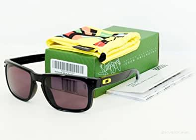 OAKLEY Holbrook Sunglasses, Valentino Rossi VR46 Signature Edition, polished black frame with warm grey lenses OO9102-21